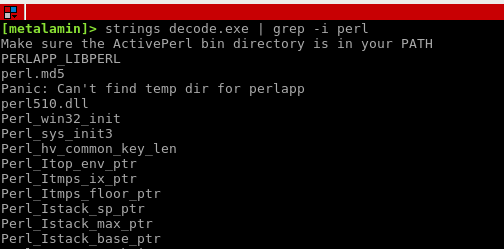Recover Perl from an EXE - Metalamin Blog